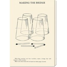 'Making the Bridge' by Retromagic Stretched Canvas Art