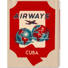 'Q Airways Cuba' by Retro Travel Stretched Canvas Art