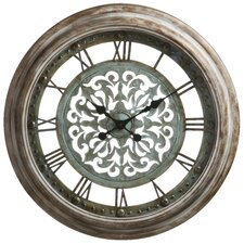 Claudia Wall Clock in Distressed Aged Copper