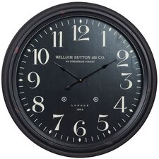 Norton Clock in Distressed Aged Black