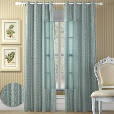 Shadows Velvet Grommet Curtain Panel Pair