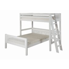 Twin over Full L-Shaped Bunk Bed with Lateral Ladder