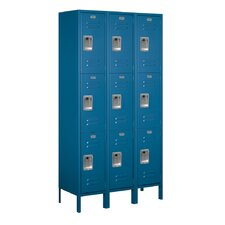 Unassembled Triple Tier 3 Wide Extra Wide Standard Locker