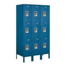 Assembled Triple Tier 3 Wide Standard Locker