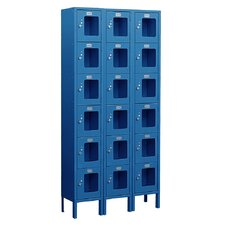 Unassembled See-Through Six Tier 3 Wide Locker