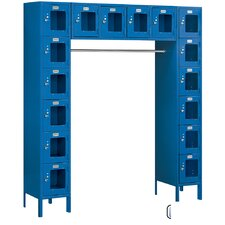 Unassembled See-Through Six Tier Locker