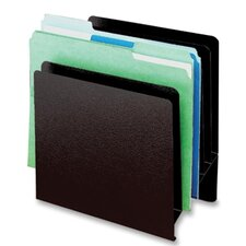 "Slant File Organizer,6-Pockets,9-7/8""x5-1/4""x10-1/2"",Black"