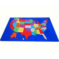 USA Map Kids Rug