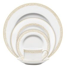 Vera Filigree Gold 5 Piece Place Setting