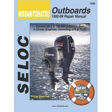 Nissan,Tohatsu Outboard, 1992 - 2009 Repair and Tune-Up Manual