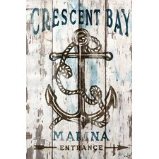 Crescent Bay Reclaimed Wood - White Barn Siding Art