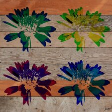 Floral Burst Reclaimed Wood - Douglas Fir Art