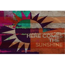 Here Comes the Sunshine Reclaimed Wood - Douglas Fir Art