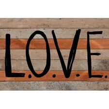 L-O-V-E Reclaimed Wood - Douglas Fir Art