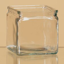 Pressed Glass Square Vase