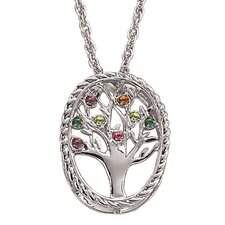 Family Tree Birthstone Necklace - 8 stone
