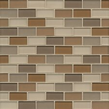 "12"" x 12"" Mosaic 1x2 Staggered Joint Gloss/Matte Combo Urban"