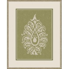 Paisley II Wall Art in Green