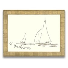 A Sporting Try Le Yachting Wall Art