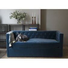 Mercer Tufted Devon Linen Loveseat Sofa