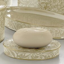 Bedminister Scroll Soap Dish in Crème Brule