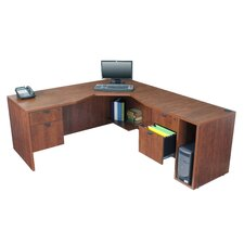 "Legacy 71"" L Desk with Angled Corner - Right"