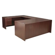 "Double Pedestal ""U"" Desk"