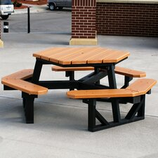 Recycled Plastic Hex Picnic Table