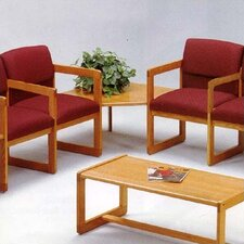 Classic Two Ergo Back Chairs with Corner Table
