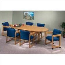 "Contemporary Series 96"" Oval Conference Table (Trestle Base)"