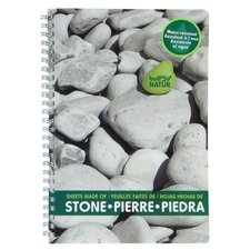 "6"" x 9"" Notebook Stone Design"