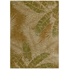 Home Nylon Gold Carnival Palms Rug