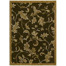Home Nylon Garden Gate Dark Brown Rug