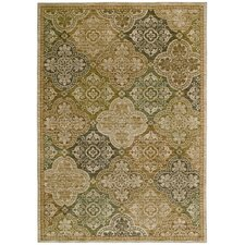 Home Nylon Light Multi-Colored Moroccan Mosaic Rug