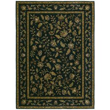 Home Nylon Navy Tapestry Garden Rug