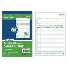 All Purpose Recycled Sales Order Book