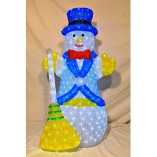3D Snowman Lit with LED