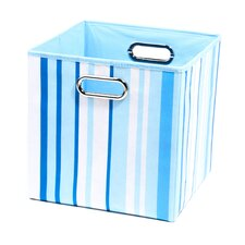 Sky Stripes Folding Storage Bin