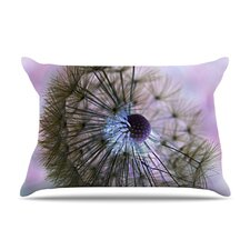 Dandelion Clock Microfiber Fleece Pillow Case