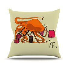 Playful Octopus Throw Pillow