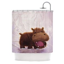 The Happy Hippo Polyester Shower Curtain