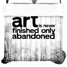 Art Never Finished Duvet