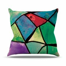 Stain Glass 1 Throw Pillow
