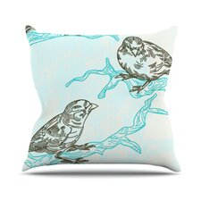 Birds in Trees Throw Pillow