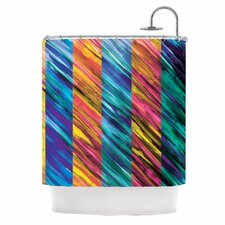 Set Stripes I Polyester Shower Curtain