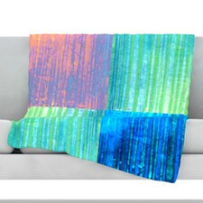 Crayon Batik Fleece Throw Blanket