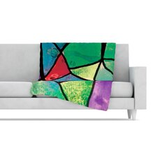 Stain Glass 1 Fleece Throw Blanket