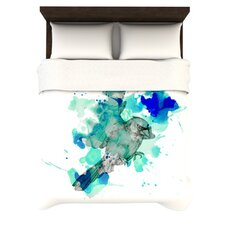 A Cardinal in Blue Duvet Cover Collection