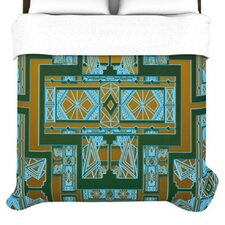Golden Art Deco Duvet Cover
