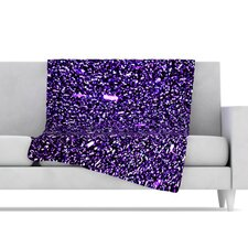 Purple Dots Fleece Throw Blanket